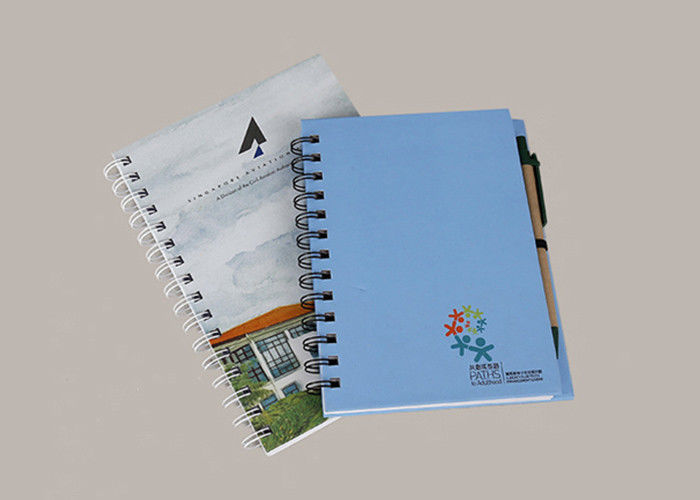 Hardcover Promotional Spiral Notebooks LOGO Printing With Pen